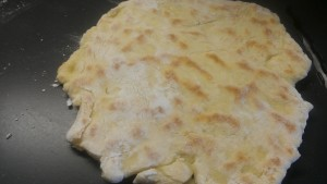 Naan on Griddle